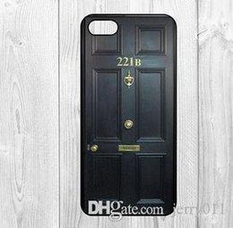 Wholesale Iphone 4s Sherlock - 221 B Street Door Sherlock print pattern Hard plastic cover case for iphone4 4s 5 5s 5c 6 6 plus- wholesale and retail
