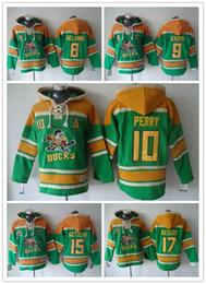 Wholesale Paul Kariya Jersey - Anaheim Ducks Hockey Men Jerseys 8 Teemu Selanne 9 paul kariya 10 corey perry 15 Ryan Getzlaf Hockey Hoodie Hooded Sweatshirt Jackets Jersey