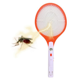 Wholesale Mosquito Killer Zapper - Wholesale-1pcs Hot Worldwide Rechargeable LED Electric Insect Bug Fly Mosquito Zapper Swatter Killer Racket 3-layer Net Safe