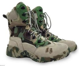 Wholesale Combats Boots - A169 Martin's men's high help desert hiking boots fan outdoor combat boots anti-skid ventilation neutral camouflage combat boots