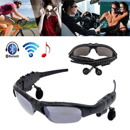 Wholesale Sunglasses Sports Mp3 Player - Sport Sunglasses Bluetooth Headset Sunglass Stereo MP3 Bluetooth Wireless Sports Headphone Handsfree mp3 Music Player