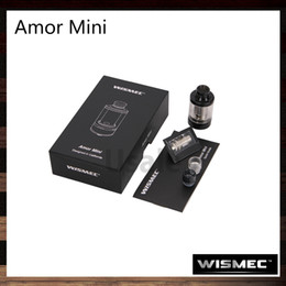 Wholesale filling materials - Wismec Amor Mini Atomizer 2ml Capacity Tank Stainless Steel Material Detachable Structure Top Filling Bottom Airflow Control 100% Original