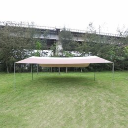 Wholesale Large Camping Tents - Wholesale- 5-8 People Outdoor Large Size UV Car Sunshade Tente Punta Waterproof Sun Shelter Awning Tarp Beach Tent Camping ZYP03