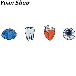 Wholesale Teeth Brooches - Fashion Women brooch Europe United States, Japan and South Korea organ jun teeth eyes little heart amygdala brooch pin