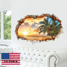 Wholesale Vinyl Tree Wall Art - CAH005- 3D Wall Sticker Tree Removable Vinyl Wall Decal for Wall Office Decor Home Art US STOCK