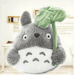 Wholesale Super Soft Teddy Bear Gift - 20CM Wholesale Lovely Plush Toy My Neighbor Totoro Plush Toy Doll Super Cute Soft Dolls With Lotus Leaf Children Gift Cats Toys