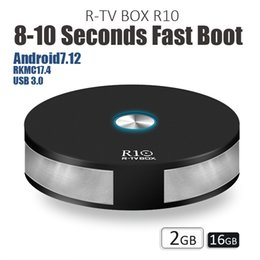 Wholesale Faster Tv - New R10 R TV Box RK3328 Smart TV Box Android 7.1 2GB 16GB Dual Band Wifi BT4.1 Fast Boot USB3.0