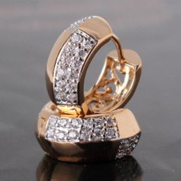 Wholesale Platinum Hoop Earings - Brand New Designer 18K Gold Platinum Plated Hoop Earrings For Women Bijuterias Brinco Jewelry Earings 2014 E116c