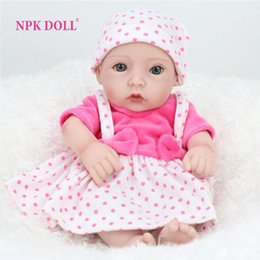 Wholesale Reborn Baby Dolls Cheap - 10 inches Full Body Doll Reborn Baby For Girl Gift Realistic Dolls Baby For Play House Toys Simulator Dolls For Sale Cheap Toys