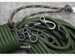 Wholesale Paracord Hooks - Camping Mini Carabiners and Edc Tool Outdoor needed Mosquetones supervivencia and Bottle Hook Paracord Useful
