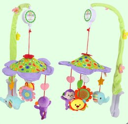 Wholesale Music Box Hanging - Baby Crib Musical Mobile Bell Music Box Bed Hanging Rattle forest animal Toys with Holder Arm for Newborn Gift