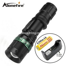 Wholesale Cree Headlight Zoomable - E3 1set cree led zoom flashlight Tactical torch lights Zoomable lamp lights led flashlight Headlight head light lamp