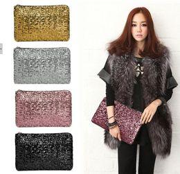 Wholesale Clutches For Women Wholesale - 2016 sparkling clutch bags evening bag Fashion Dazzling Glitter Bling Sequins women Evening Party purse Bag Handbag for Women 29X19CM