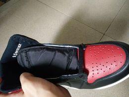 2019 vestito grigio metallico scarpe da basket Banned 2016 uomini scarpe da ginnastica all'ingrosso al dettaglio 555088-001