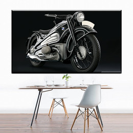 Wholesale Cool Canvas Paintings - ZZ1294 black white canvas art cool motorcycle canvas pictures oil art painting for livingroom bedroom decoration unframed prints