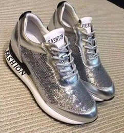 Wholesale B Unique Shoes - New European station sports casual shoes, unique sequins decoration to show your charming and fashionable temperament free shipping
