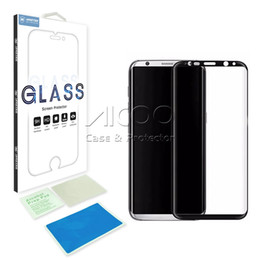 Wholesale Galaxy Note Colors - High Quality Tempered Glass 3D Curved Full Coverage For Samsung Galaxy Note 8 S8 Plus screen protector 6 colors Full Clear Transparent film