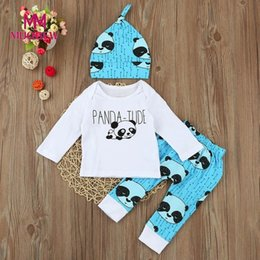Newborn Baby Boys Girls Clothes Sets New Autumn Cotton Long Sleeve Panda Printing  Infant 3pcs Outfits Suits Toddler Kids Clothing Set baby girl panda outfit  ... ccbded5b1983