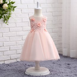 Wholesale Cheap Glitz Pageant Dresses 3t - Cheap Flower Girl Dresses for Weddings 2017 A Line Lace Flowers Pageant Dresses for Girls Glitz Formal Dresses SF019