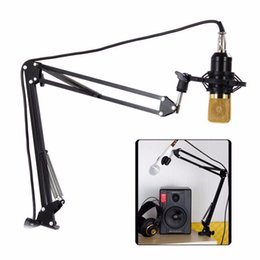 Wholesale Microphone Mounts - NB - 35 Extendable Recording Microphone Mic Stand Suspension Boom Scissor Arm Holder with Microphone Clip Table Mounting Clamp
