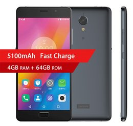 "Wholesale Android Mobile Tablet Pc - Original Lenovo Vibe P2 C72 5100mAh 4G RAM 64G ROM Snapdragon 625 Octa Core FDD LTE 4G 5.5"" Tablet PC 1920x1080P Android 6.0 Mobile Phone"