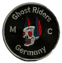 Wholesale Ghost Clubs - HIGH QUALIT GHOST RIDERS SKULLS PATCH BIKER MOTORCYCLE CLUB VEST OUTLAW COOL BIKER MC JACKET PUNK IRON ON PATCH FREE SHIPPING