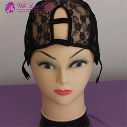 Wholesale Wholesale Wigs U Part Cap - U part wig cap Lace weave hair caps U shape Middle right left u part can choose
