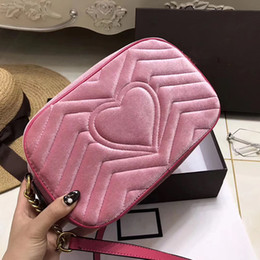 Wholesale Italy Brand Bag - women famous brand velvet bag Marmont shoulder bags luxury designer handbags high quality chain crossbody bag Italy leather bags new arrival