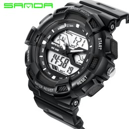 Wholesale Men S Electronic Sport Watch - 2017 High Quality Sanda Fashion Digital Watch Men G Style Waterproof Led Sports Military Watches S-shock Lovers Electronic Relogio Masculino