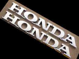 Adesivos decalques de corrida on-line-3D ABS Emblema Do Tanque De Combustível Emblema logotipo Traseiro Fender Carenagem Corpo Tubo Garfo Decalque Adesivo Para Honda Motocicletas CBR 600 750 Racing Bike Personalizado