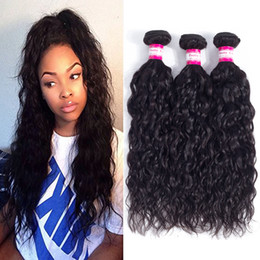 Wholesale 28 Water Wave Hair Extension - Unprocessed Human Hair Brazilian Water Wave Sew In Soft and Thick Virgin Hair Extensions 100g High Quality Remy Human Hair Weave Bundles