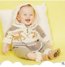 Wholesale Girls White Ponchos - Newborn Christmas Shawl Autumn Baby Girls and Boys Cotton Cartoon Deers Long Sleeve Cape Infants Animal Ears Hooded Shawl Baby Clothes C1395