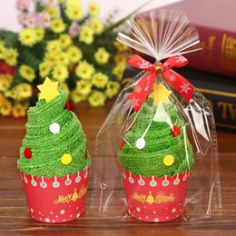 Wholesale Decoration Cake Boxes - Towel Cake Cotton Christmas Creative Gift Small Gift Box Kindergarten Prize Wedding Birthday Full Moon Return Gift