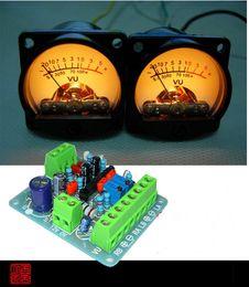 Wholesale Audio Boards - Wholesale-2pcs Panel VU Meter Warm Back Light Audio Level Amp + One driver board