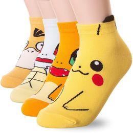 Wholesale Socks Factory Price - Factory Price Cartoon Anime Pikachu Women Short Cute art Socks Women Lady Girl Summer Cotton kiss Sock ankle meias DHL ups SF ship