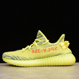 Wholesale Cheap Quality Gold - SPLY 350 Boost 350 V2 Belgua 2.0 Semi Frozen Yellow Best Quality Wholesale Discount Cheap Kanye West Online Shoes Basketball Running Shoes