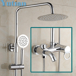 Wholesale Round Metal Tub - Free shipping Bathroom Mixer Bath Tub Copper Mixing Control Valve Wall Mounted Shower Faucet concealed faucet YT-5335