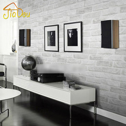 Wholesale Rolling Stones Vintage - Deep Embossed 3D Brick Wall Paper Modern Vintage Brick Stone Pattern Paper Wallpaper Roll For living room Wall covering Decor