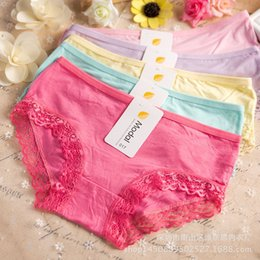 Wholesale Sexy Ladies Underpants - New Arrival Hot Sale Modal Cotton High Elasticity women Briefs Underwear Sexy Lace Women Girls Lady Underpants Knickers Panty