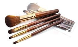 Embalagem do opp on-line-4 Pcs set Cosméticos Pincéis de Maquiagem Set Eyeshadow escova / escova de sobrancelha / escova de lábios / blush pincel 12.7 CM com embalagem de varejo OPP