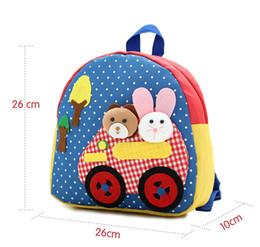 Wholesale Handmade Schoolbag - Lovely Kids Cartoon Handmade Plush Toy Bag Zoo Kindergarten Satchel Children Purse Baby PRE schoolbag Backpack birthday gifts Free Shipping