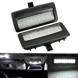 Wholesale Mirror License Plates - 2PCS 18 LED Error Free Universal Interior Light 12V Car Mirror Visor Light Auto Lamp Bulbs for BMW F10 F11 F07 F01 F02 F03