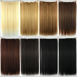 Wholesale Blonde Clips - Clip In Human Hair Extensions Brazilian Virgin Hair 70-160g Different color Clip In Brazilian Hair Extensions