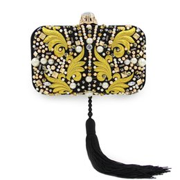 Wholesale Best Silk Fabrics Wholesale - HOT STYLE! Woman evening bags luxury jewelry shoulder and clutch bags embroidery BEST QUALITY imitated silk fabric
