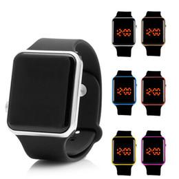 Wholesale Electronic Watch Factory - 2017 Apple LED Watch Factory Direct Touch Screen LED Electronic Watches Digital Silicone Bracelet Watch Waterproof