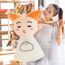 Wholesale Large Doll Heads - Large chicken head cartoon doll plush toy doll pillow Helen of Troy funny creative birthday girl