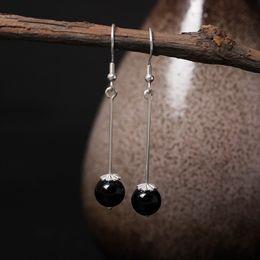 Wholesale Obsidian Earrings - Fashion 925 Silver Earring Pearl Stud Ear Leaf Wedding Earrings For Women Anti Allergic Two Sided Nail Korean obsidian earrings factory outl