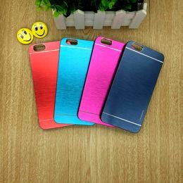 Wholesale Iphone Luxury Case Aluminium - Luxury MOTOMO Metal Aluminium Brushed Cell Phone Case Hard For iPhone 6 6s Plus 4.7 5.5 inch Samsung S7 S6 Edge