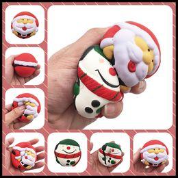 Wholesale Soft Animal Keyrings - Christmas Gifts Jumbo Squishy 7*7cm Santa Claus Lids Soft Toys Decompression Squishies by Pressing as Keyring