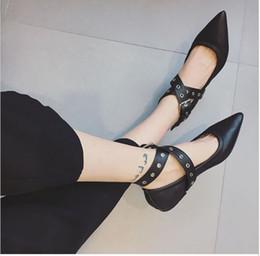 Wholesale Patent Slingbacks - Classic Pointed Toe Pumps, Best Sale Women Rivets Flats Shoes